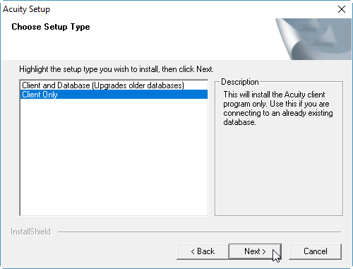 Acuity® software: Installing the Acuity 4 software on Windows 10
