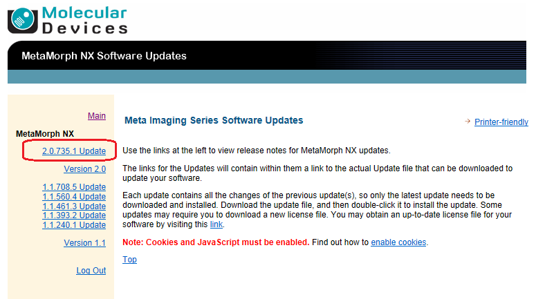 MetaMorph® NX 2 0 Software (Legacy) Installation Instructions
