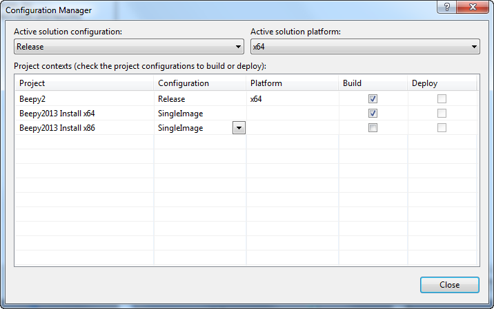 Using Visual Studio 2013 Professional to build a Microsoft Visual