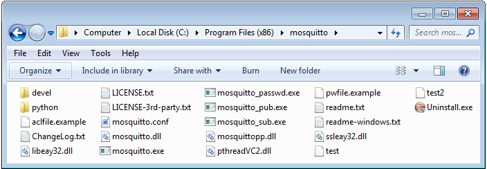 Testing the installation of the Mosquito broker