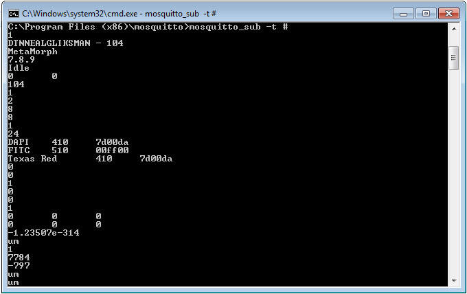 Testing the installation of the Mosquito broker communication software